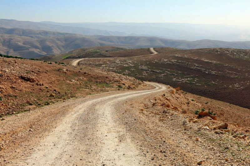An inadvertent detour from the main tarmac road between Amman, Jordan, and the Dead Sea