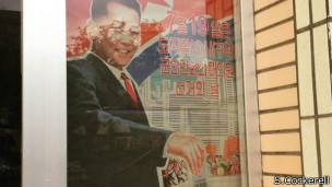 Poster electoral en Corea del Norte