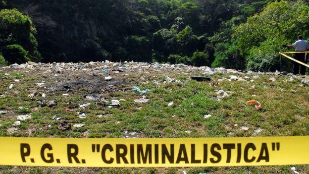 Basurero de Cocula, donde la PGR dice que se incineró a los estudiantes