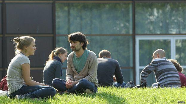 Estudiantes en Berlín, Alemania.