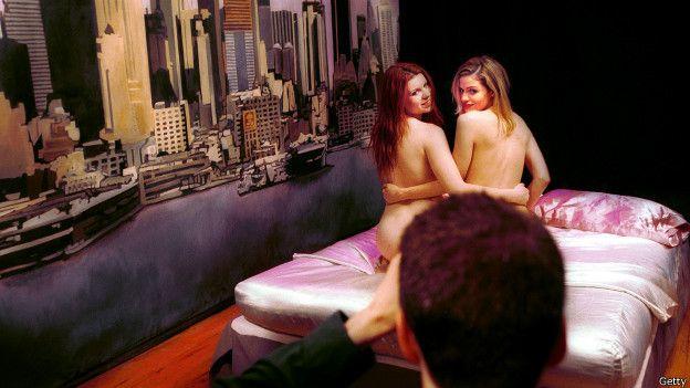 Filmación de escena lésbica