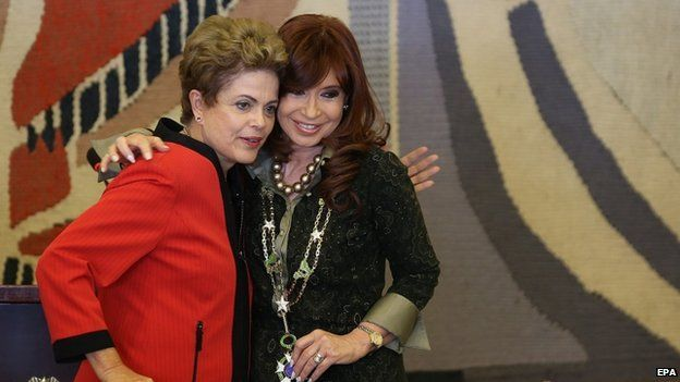 Dilma Rousef y Cristina Kirchner