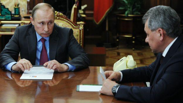 Putin y el ministro ruso de Defensa