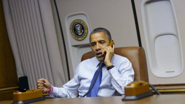 Obama a bordo del Air Force One