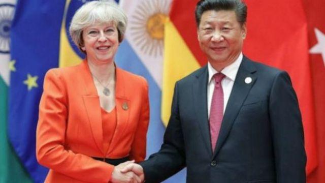 ماي والرئيس الصيني