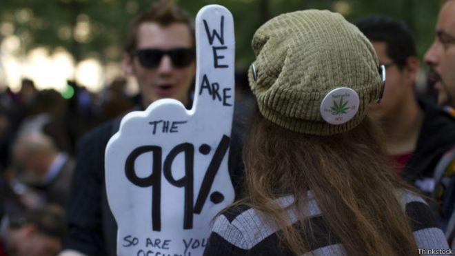 Manifestante protesta contra desigualdade (Foto: Thinkstock)