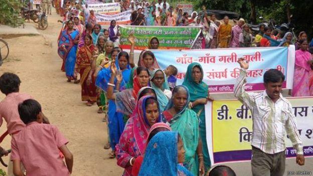 छत्तीसगढ़, भूमि अधिग्रहण, विरोध प्रदर्शन, महिलाएँ