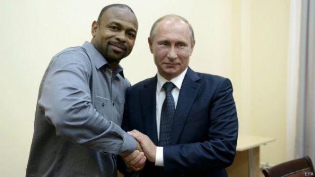Боксер Рой Джонс и Путин