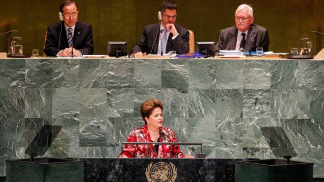 Dilma em discurso na ONU, em 2012 (Foto: Roberto Stuckert Filho/PR)