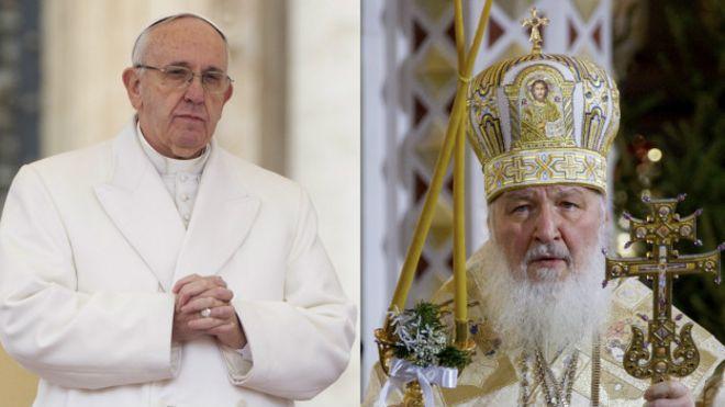 Papa Francisco y el Patriarca Kirill