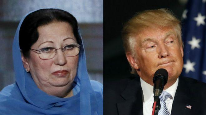 Bà Ghazala Khan và ông Donald Trump