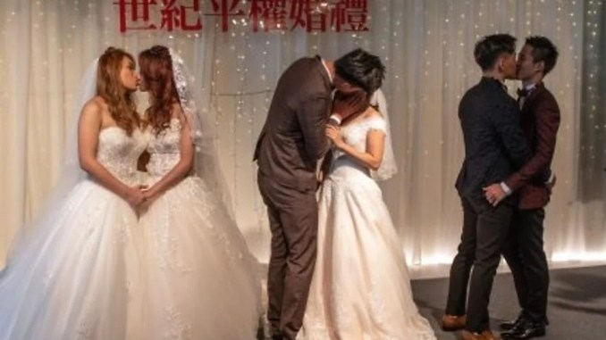 Three couples and a wedding to celebrate Taiwan marriage equality