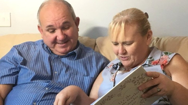 Pauline Hunt and her husband Gordon