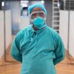 Medic wearing PPE