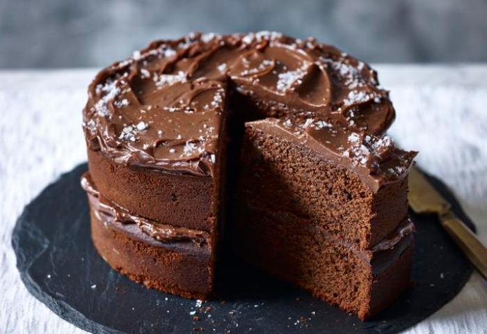 Salted Chocolate Cake Recipe Bbc Food