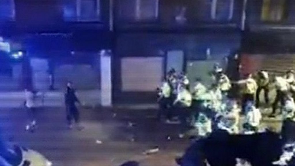 Photo of Police injured during illegal street party clashes