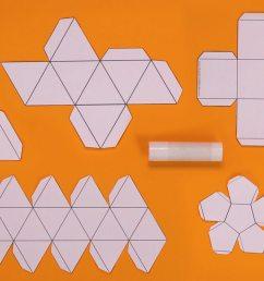 a tetrahedron net cube net octahedron net dodecahedron net icosahedron net  [ 1280 x 720 Pixel ]
