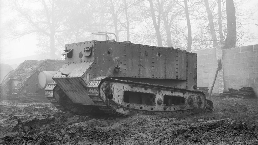 medium resolution of the experimental world war one tank little willie on its first trial run in lincoln
