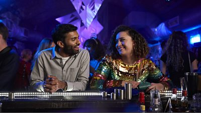 Nikesh Patel and Rose Matafeo in Starstruck BBC Three's comedy in production