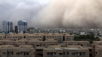 Dust storm and destruction caused by cyclone Tauktae #world #BBC_News