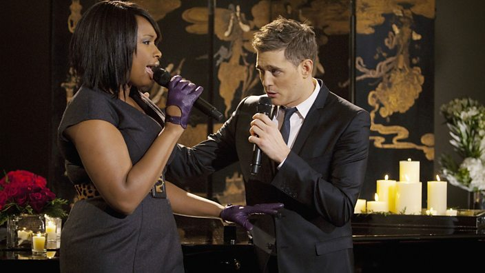 Michael Bublé and Jennifer Hudson performing the song in 2009