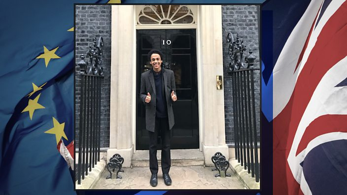 "Hani outside number 10: ""When the result came in, my father and I had just come back from our count in Peterborough. We turned on the TV, heard the news and shared a big hug. The sense of victory in that moment was huge."""