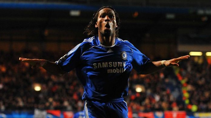 Didier Drogba's trademark celebration