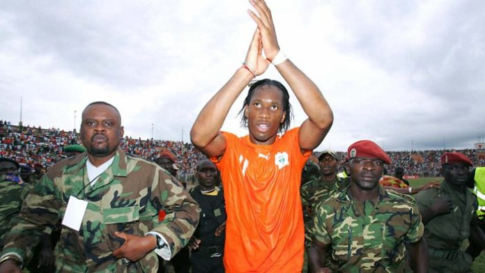 Drogba after the qualifier in Bouake