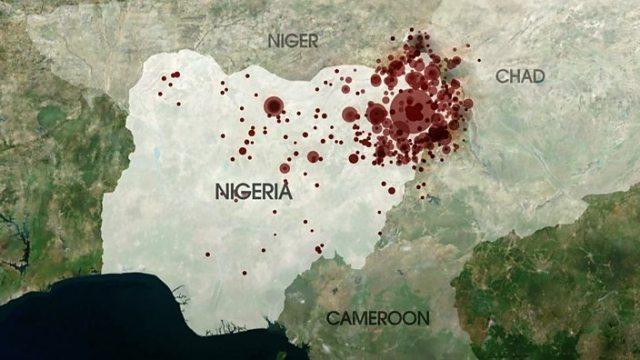 Map of Boko Haram activity 200...