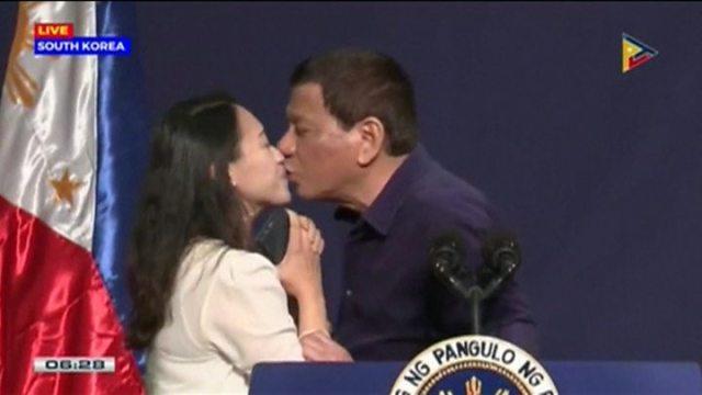Image result for duterte kissed ofw