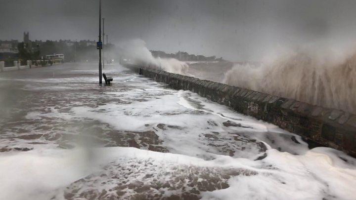storm callum flood defences