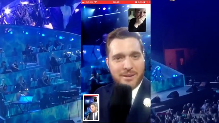 buble voicecalls fan at