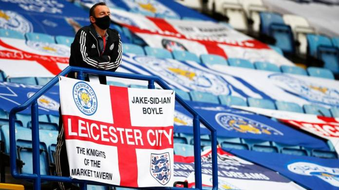 A Leicester member of staff at the Kingpower Stadium