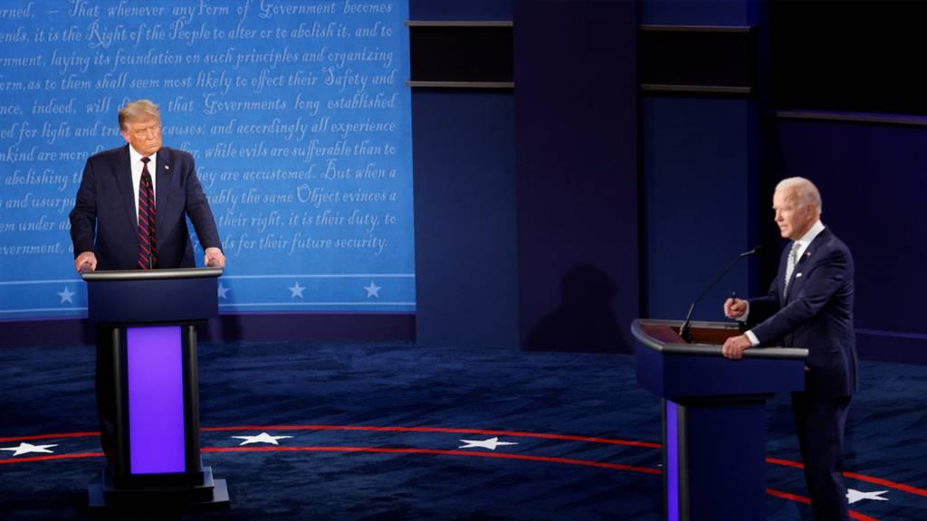 美國大選:特朗普Vs拜登首場電視辯論全程直擊 - BBC 中文網