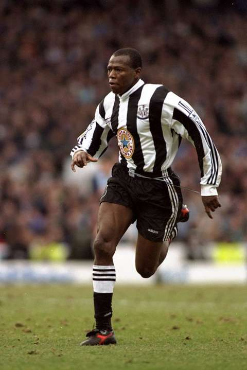Colombian Faustino Asprilla was a fan faviourite at Newcastle United