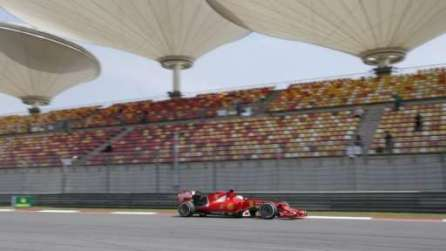 Sebastian Vettel in a Ferrari