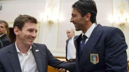 Lionel Messi and Gianluigi Buffon