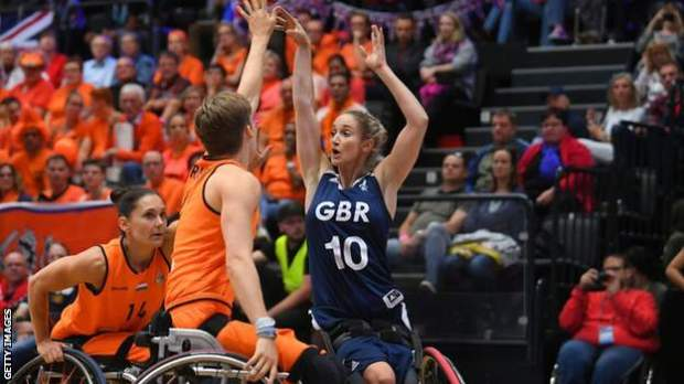 Amy Conroy playing for GB
