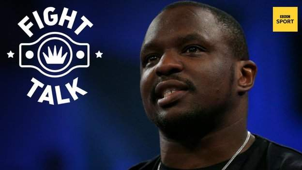 British heavyweight Dillian Whyte