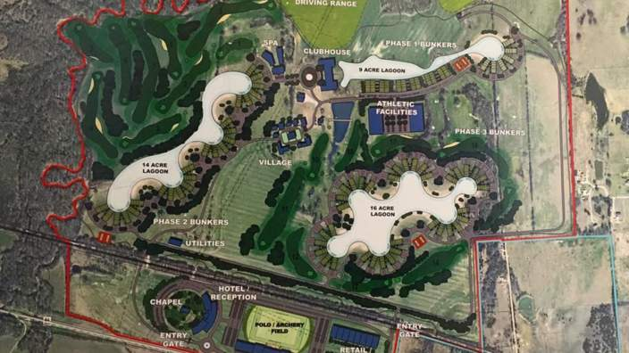 The master plan for Trident Lakes.