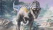 Tyrannosaurus rex charging