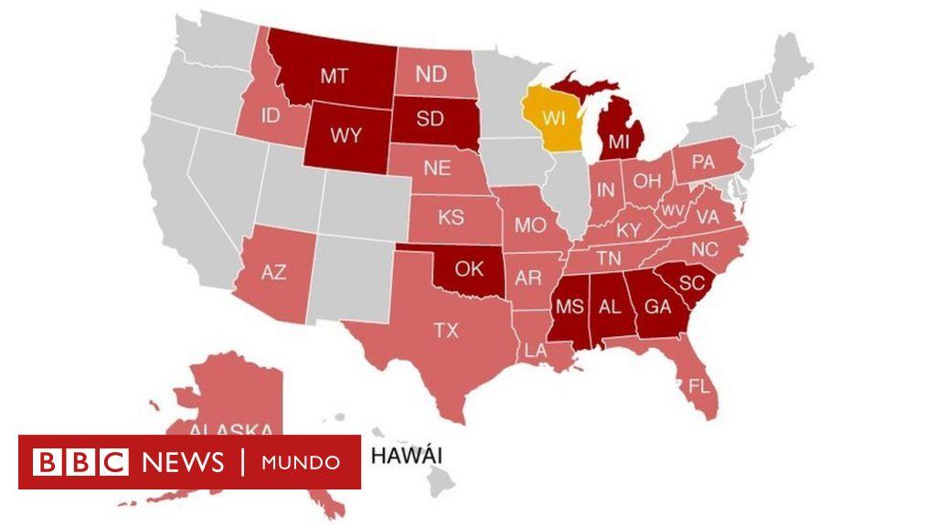 El mapa que muestra los estados de EE.UU. en los que te pueden ...