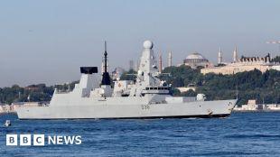 UK denies Russia fired warning shots near British warship #world #BBC_News