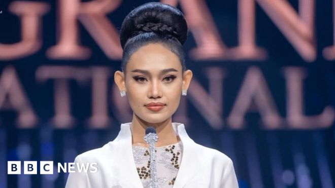 The Myanmar beauty queen standing up to the military #world #BBC_News