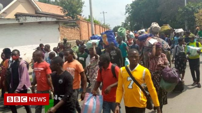 DR Congo: Thousands flee Goma after second volcano warning #world #BBC_News