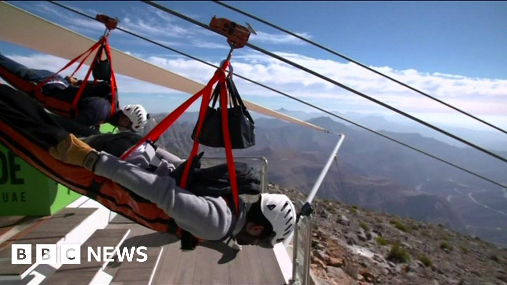 4 man zip wire wales 1981 cb900 wiring diagram world s longest opens in the uae bbc news