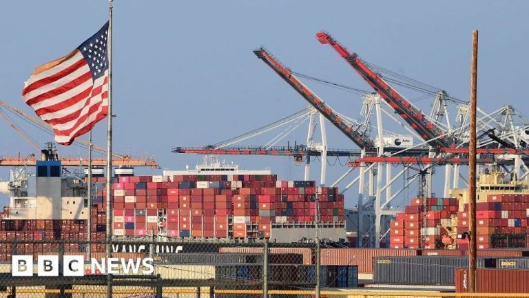 Watch LA port to open around the clock to sort out transport queues – BBC English News