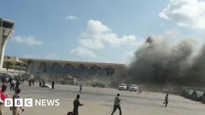 116302068 mediaitem116302067 यमन युद्ध: नई सरकार के आते ही अदन हवाई अड्डे पर धमाका हुआ