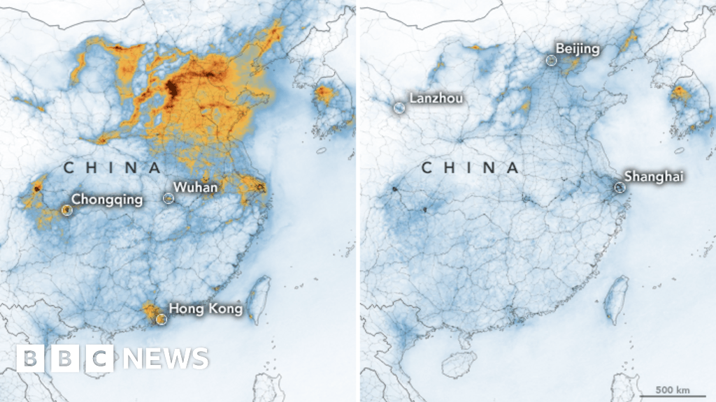 Coronavirus: Nasa images show China pollution clear amid slowdown ...