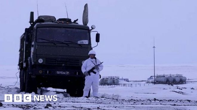 Russia flexes muscles in challenge for Arctic control #world #BBC_News